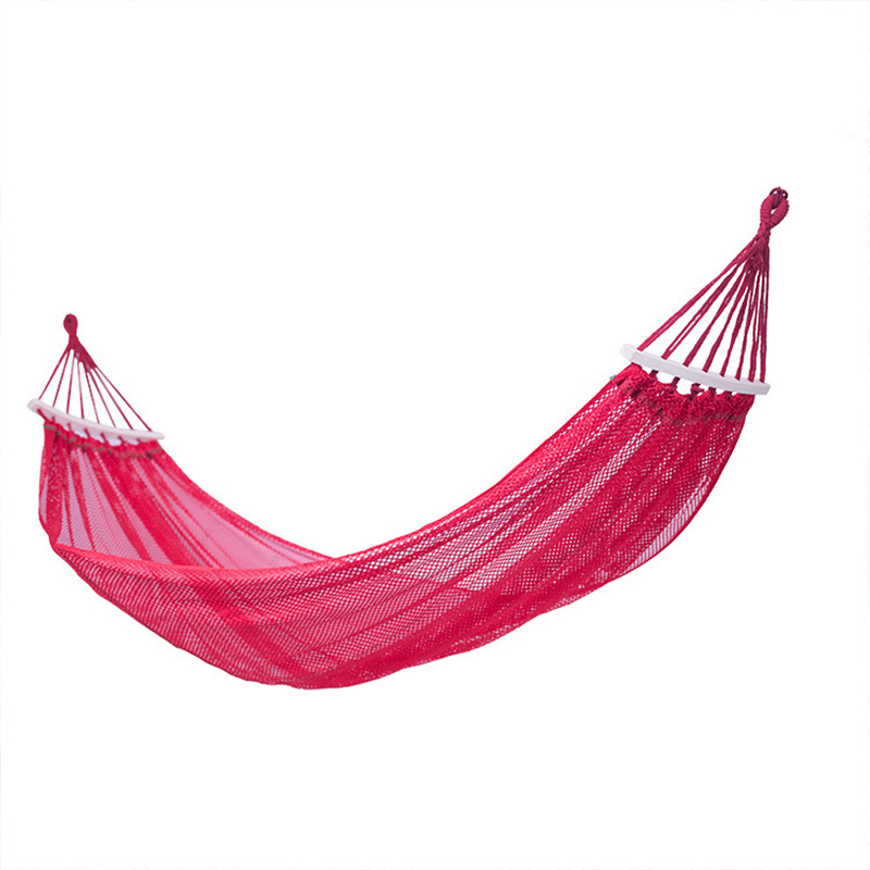 Bend Swing Hammock Bending Stick Ice Silk Outdoor Camping Anti-Rolling Hammock Simple Casual Fashion Suitable For Excursion