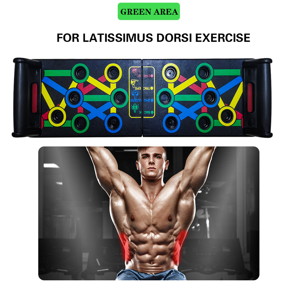 Fitness Comprehensive Exercise Board SAMTITY Push Up Board 14 in 1 Push Up Training System Fitness Workout Training Stand Board