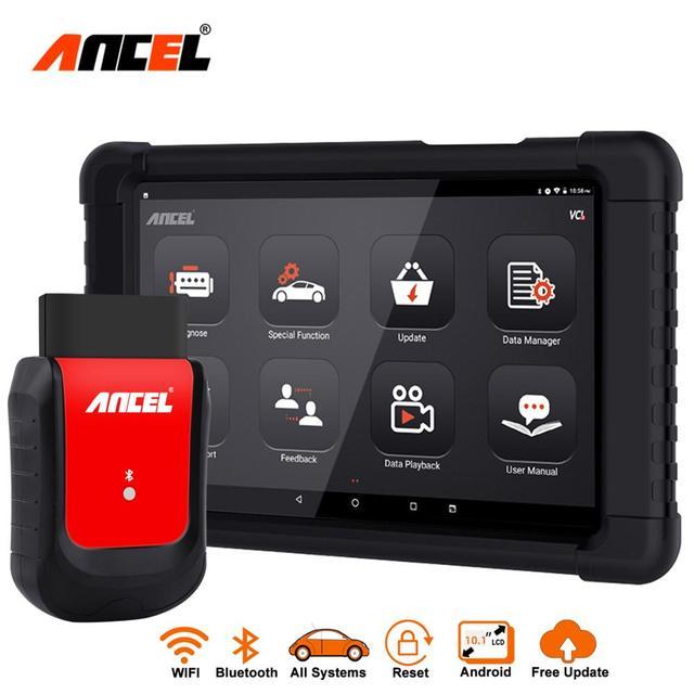 OBD2 автомобильный сканер ABS EPB DPF SAS подушка безопасности сброс масла Топливная форсунка полная система автомобильный диагностический инструмент Bluetooth OBD2 ANCEL X6