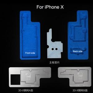 Image 2 - Monteur 3D Bga Reballing Stencil Kit Voor Iphone X/Xs/Xr/Xs Max Tussenlaag Kan Worden geplant Platform Tin Template Lassen