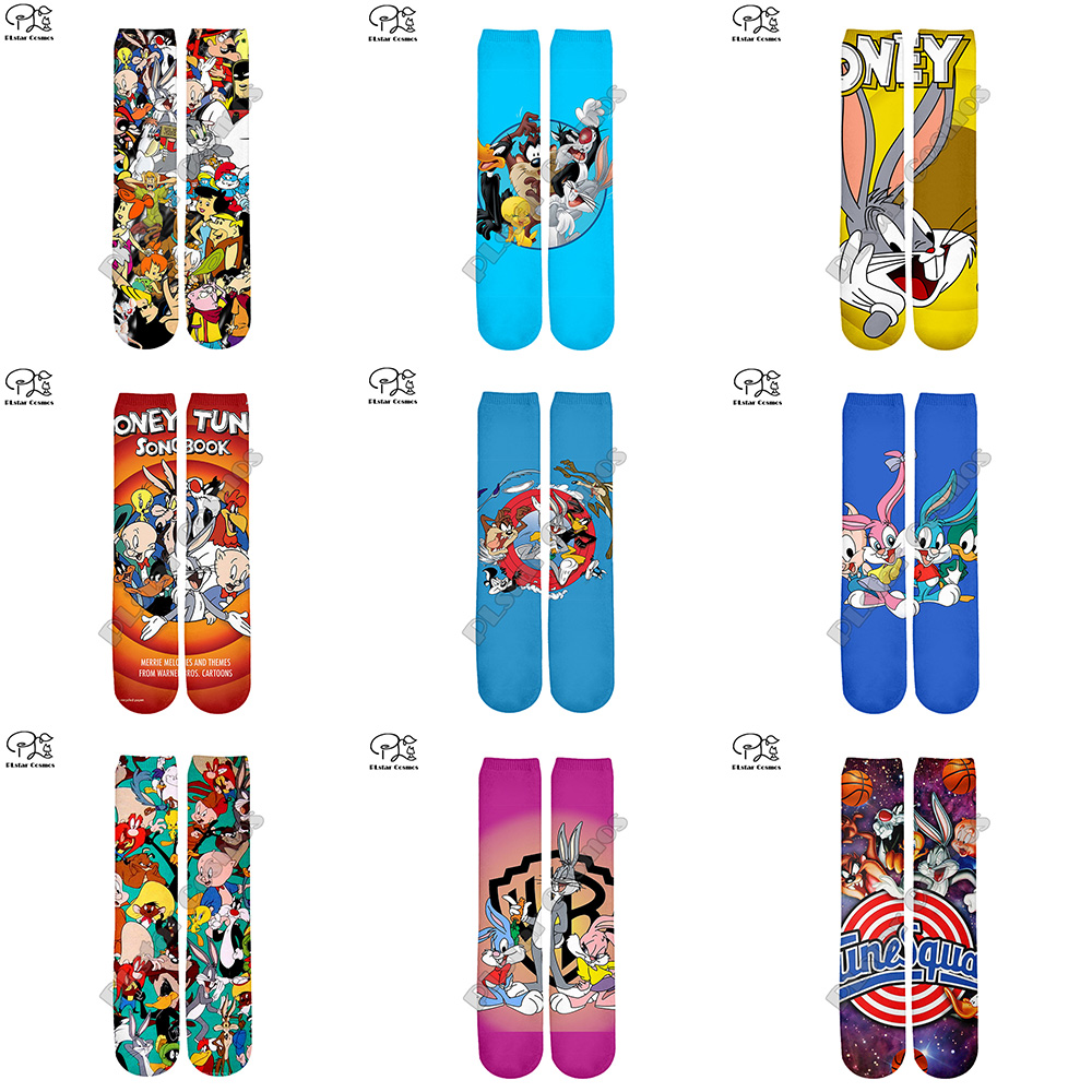 Men Women Funny Play Basketball Bugs Bunny Sock 3d Cartoon Print Long Sock Harajuku Space Jam Winter Spring Autumn Hose Stocking