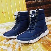 Mode hiver bottes De neige grande taille 36-48 bottes hommes imperméable randonnée Chaussure Homme lumière Zapatos De Mujer chaud cheville chaussures