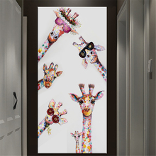 Colorful Giraffe Animal Family Poster Painting Cuadros For Kid Wall Art Picture Living Room Home Decor Giraffe Posters Painting