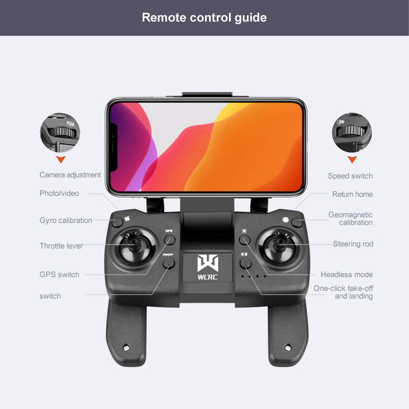 drone remote control buttons and instructions