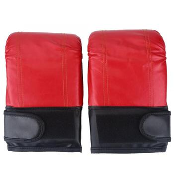 1 para rękawice bokserskie worki z piaskiem worki z piaskiem ciężkie torby dla dorosłych kickboxing rękawice bokserskie do treningu fitness Sparring rękawice tanie i dobre opinie Mężczyzna Other