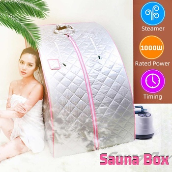Foldable Steam Tent Sauna Room Skin Spa Box Steam Generator Bath Bathroom Accessory for Sauna Loss Weight Slimming 1000W 2L