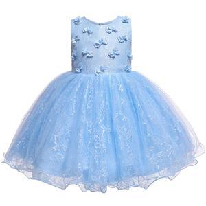 Платье для девочек на день рождения, платье принцессы с бабочками для девочек, милое бальное платье, платье для выпускного вечера, детская о...