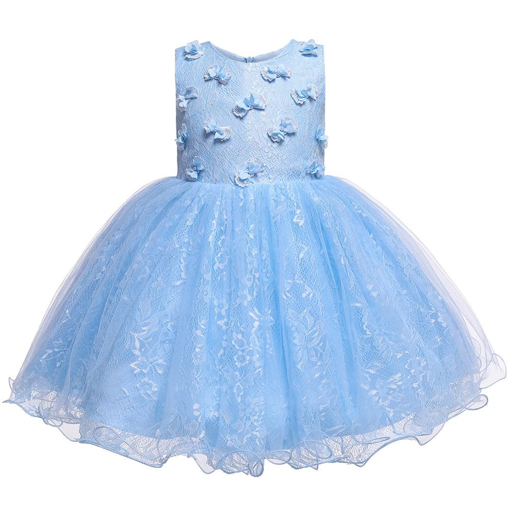 <font><b>Birthday</b></font> Party Girls <font><b>Dress</b></font> Butterfly Princess <font><b>Dress</b></font> for Girls Sweet Cute Ball Gown Prom Designs Baby Clothing 1 <font><b>2</b></font> 3 4 Years image