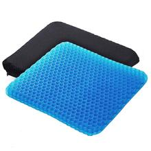 Angushy Egg Gel Seat Cushion, Breathable Gel Cushion Chair Pads with Non Slip Cover for Home Office Car Wheelchair, Honeycomb De
