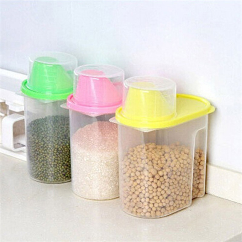 Dried Food Cereal Flour Pasta Food Storage Dispenser Rice Container Sealed Box-P101 image