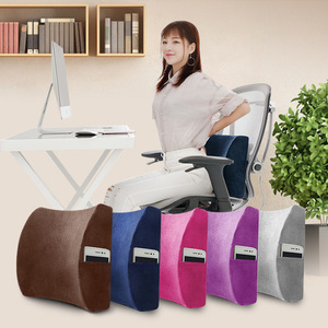 Lower Back Support Pillow Office Chair Wheelchair Memory Foam Body Pillow Car Seat Cushion Backrest with Phone Holder Bag Nap