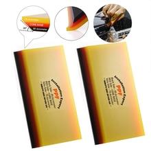 Foshio 2/10個2in1ソフト包装スキージ炭素繊維ビニールフィルムスクレ色合いクリーンツール水ステッカーリムーバー