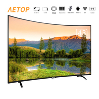 free shipping Hot sale curved screen hd tv led television 4k smart tv 43 inch with bluetooth