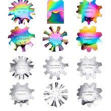 Coupe-ongles en acrylique rose/blanc, 11 tailles, outil de coupe-pointe français, courbe C, ligne de sourire, bord unique, coupe-ongles en métal,