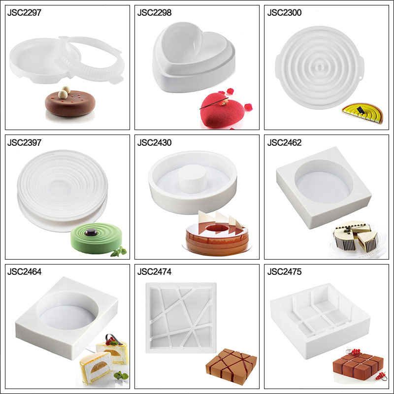 Silicone Cake tools Mold For Cake Decorating Tool Mousse Dessert Silicone Mold Baking Mould Cake Decorating Tool 3D Baking Pan