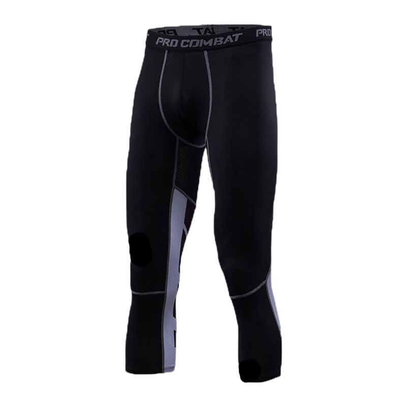 Men's Running Fitness Training Tights Calf Long Stretch Seven Points Sweatpants