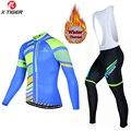 X-TIGER  зимний комплект одежды для велоспорта  MTB  велосипедный костюм  одежда  Maillot Ropa Ciclismo  Термальный флисовый комплект Джерси для мужчин