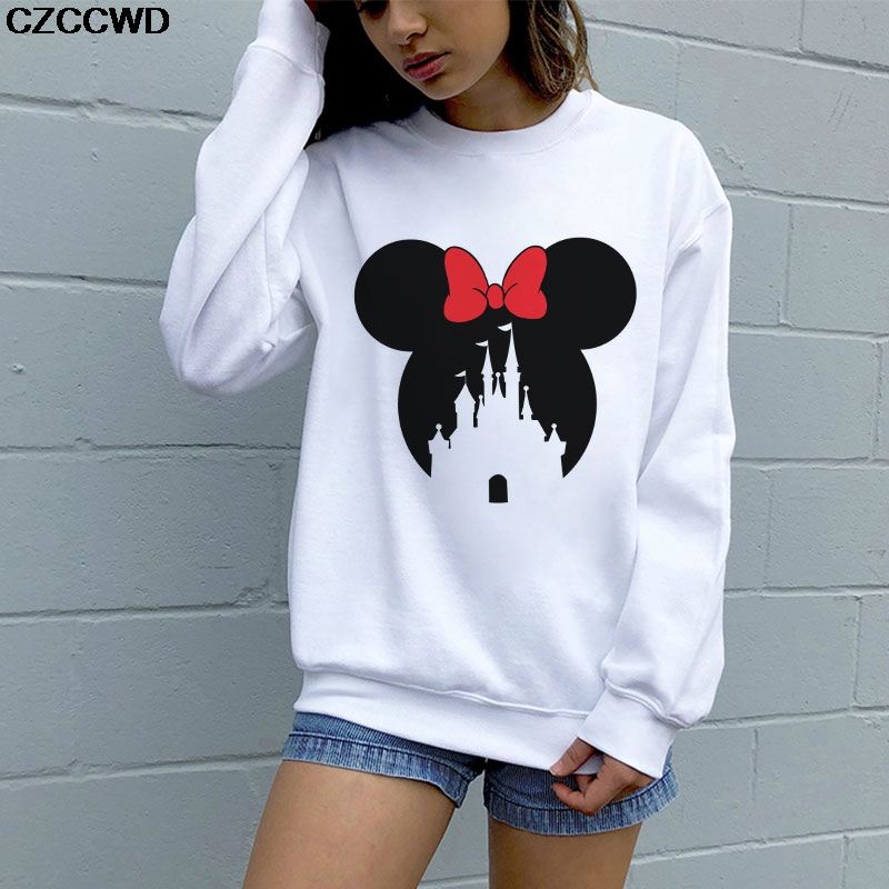 CZCCWD Polerones Mujer 2019 Cartoon Fashion Harajuku Sweatshirt Leisure Sudaderas De Mujer Streetwear Hipster Womens Hoodies Top