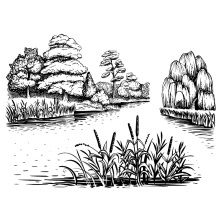 ZhuoAng Landscape Painting Clear Stamps For DIY Scrapbooking/Card Making/Album Decorative Silicon Stamp Crafts