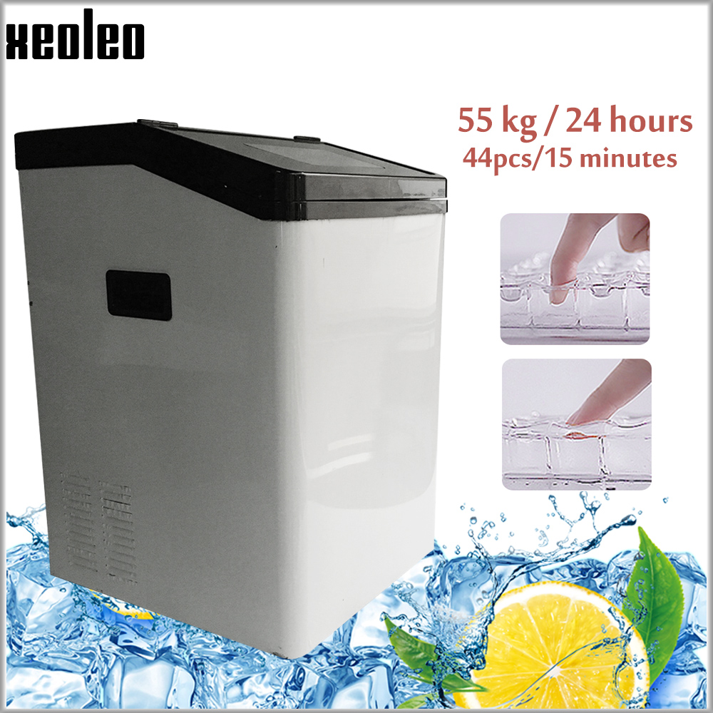 Xeoleo Automatic Ice machine 55kg/24h 8kg storage Cube Ice maker 44 grid suitable for coffee shop/bar with Water Purifier|Ice Makers| |  - title=