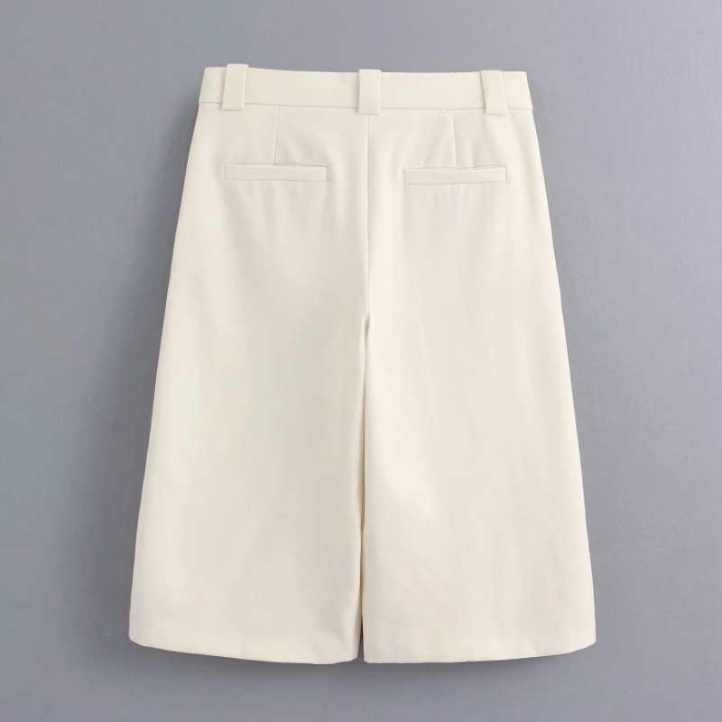 Pantalones Elegantes A La Moda Para Mujer Hasta La Rodilla Holgados Y Rectos Comodos P1600 Novedad De 2020 Pantalones Y Pantalones Capri Aliexpress