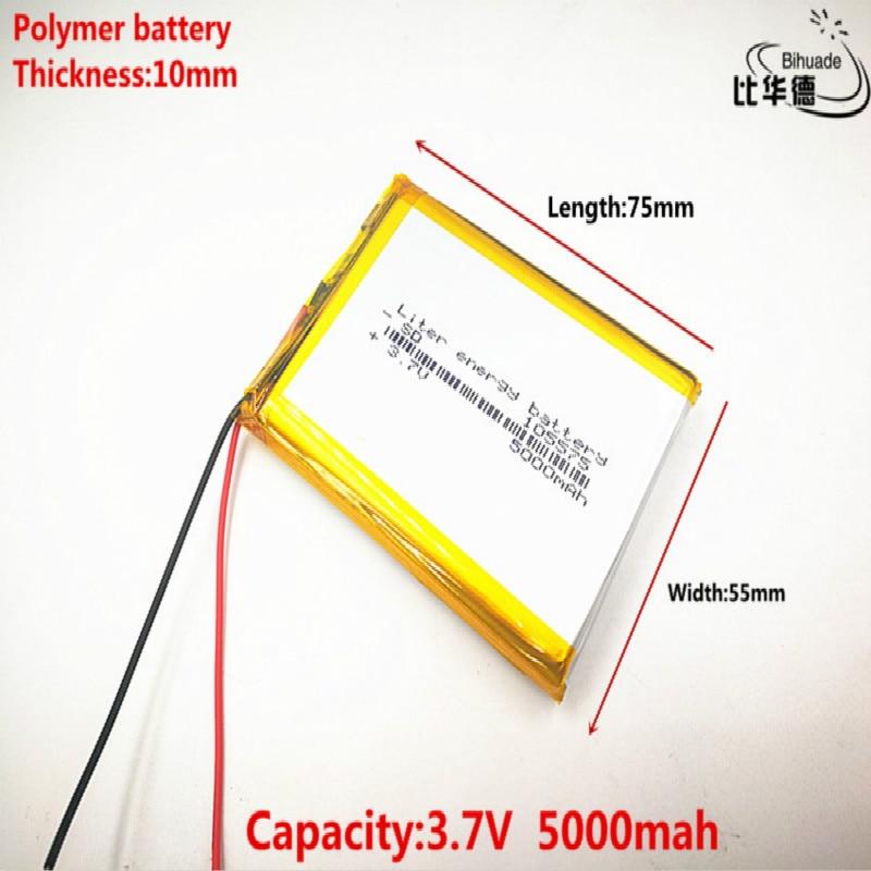 Livraison gratuite 3.7 V lithium polymère batterie 5000 mah interphone 105575 GPS véhicule enregistreur de données de voyage