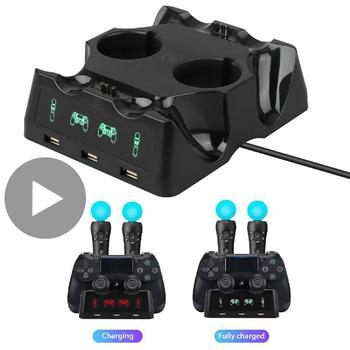 Soporte cargador para Sony Play Station PS 4, PS4, Move VR, Mando...