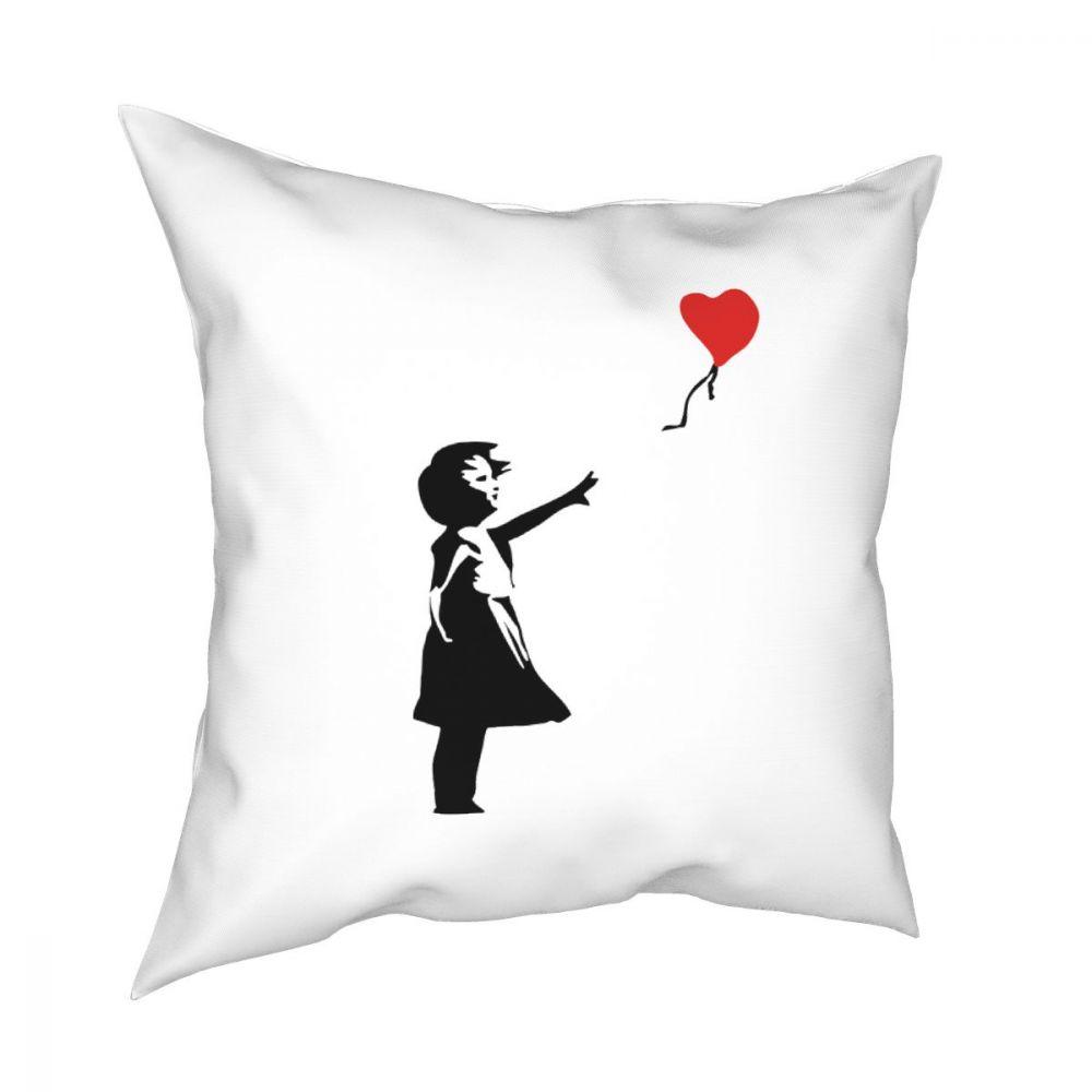 World Peace Square Pillow Case Decorative Pillow Kcco Balloon Girl Banksy Love Creative Cushion Covers