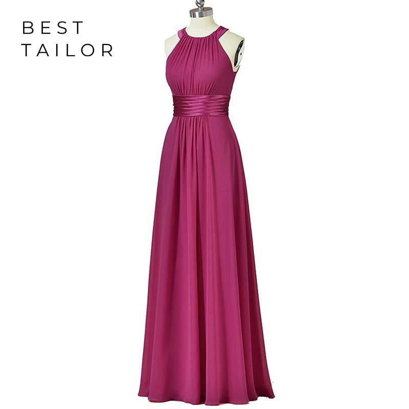 Bridesmaid Dresses Halter Maid of Honor Wedding Party Gowns Floor Length robe demoiselle d'honneur vestidos de fiesta noche