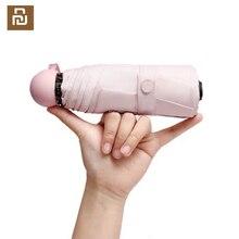In aktien Youpin kapsel mini sonnenschirm sonnencreme ultra licht anti uv kleine tasche fünf regenschirm falten regen