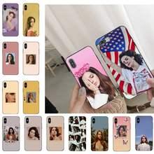 Funda de teléfono de Lana Del Rey modelo singer, Sexy, para iPhone 11, 8, 7, 6, 6S Plus, 7 plus, 8 plus, X, XS, MAX, 5, 5S, XR, 12, 11 Pro, max, se, 2020