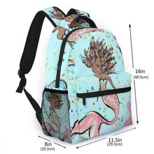 NOISYDESIGNS New Women Backpack Mermaid Print School for Teenage Girl Mochila Feminina Casual Backpaks Book Bag