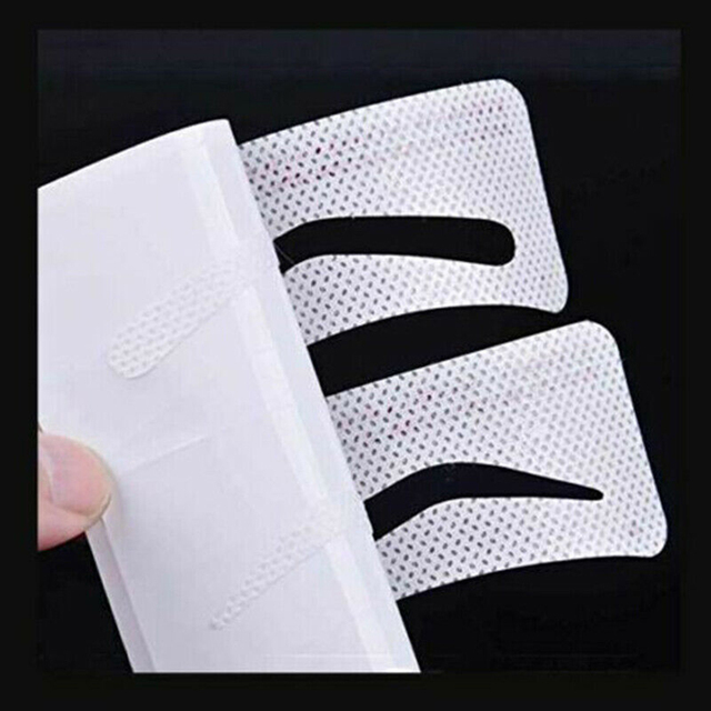 12/24 Pairs Disposable Eyebrow Stencil Grooming Shaper Template Makeup Tools Stickers  Card Women Fashion Makeup Tools 2