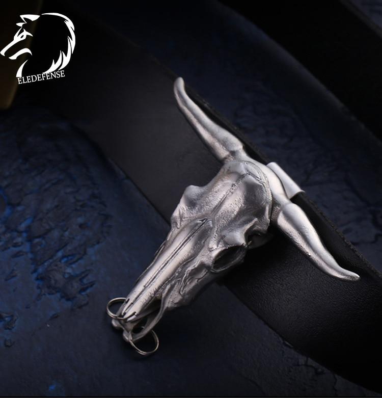 2020 Bull Head Skull Totem Steel Knife Safety Outdoor Survial Kit EDC Tool Self Defense For Women Men Drop Shipping