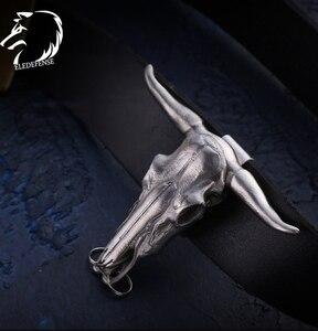 Image 1 - 2020 שור ראש גולגולת טוטם פלדת סכין בטיחות חיצוני Survial ערכת EDC כלי הגנה עצמית לנשים גברים זרוק משלוח
