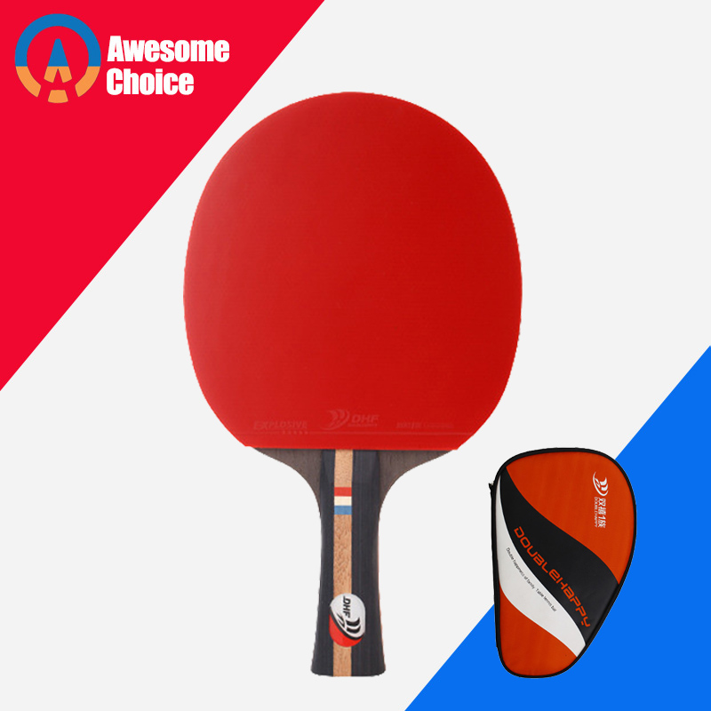 4 Stars Finished Table Tennis Racket Pimples in for Both Rubber Fast Attack With Loop Ping Pong Game Racquet Game 1