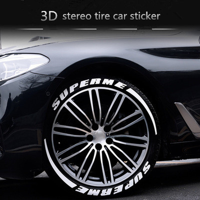 4 set letter tire sticker modified car styling 3D logo car stickers rubber car decal personalized Audi sticker