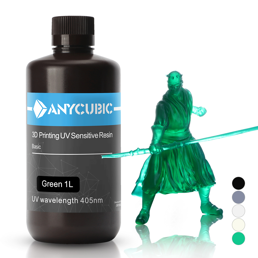 ANYCUBIC 3D Printer Resin Universal 405nm White Grey Black Quick Curing SLA UV Curing Resin for LCD 3D Printing Like Photon S