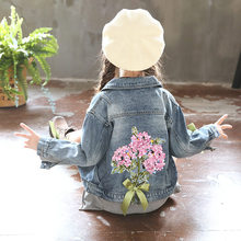 Fashion Kids Denim Jacket For Girls Spring Autumn Jackets Coats Children Outwear Coat Casual