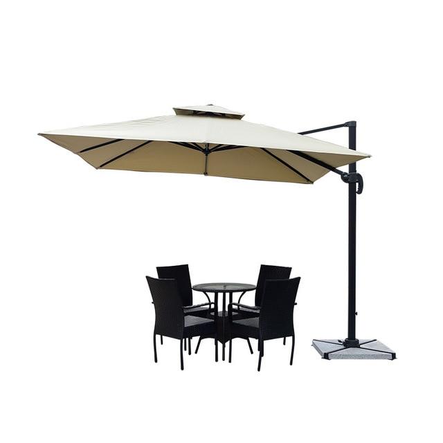 Square Outdoor Patio Umbrella 3mx3m  1