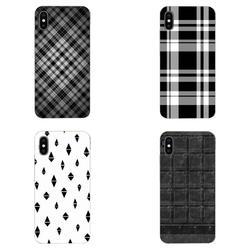 На Алиэкспресс купить чехол для смартфона fashion retro black white grid tpu cell phone cover case for xiaomi redmi note 2 3 3s 4 4a 4x 5 5a 6 6a pro plus