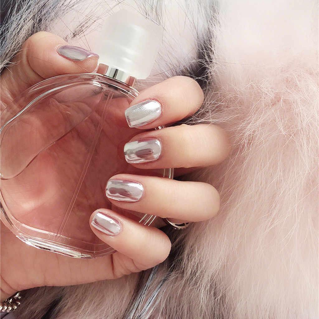 ใหม่ GOLD Mirror Powder Chrome Effect เล็บ Mirror Glitter ผงผงเล็บโปแลนด์ฟอยล์ Nails Art Glitter เงินเล็บ Art