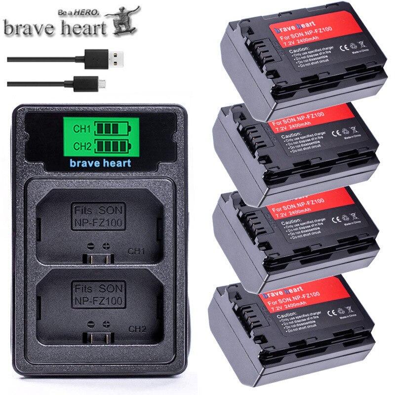 Bateria NP-FZ100 NP FZ100 NP FZ100 NPFZ100 Camera Battery For Sony Alpha 9 A9 9R A9R 9S A9S A7RIII A7R3 7RM3 A7m3 BC-QZ1