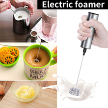 1Pc Electric Foamer Milk Coffee Whisk Mixer Electric Egg Beater Milk Frother Foamer Whisk Mixer Juice Muddler Coffee Stirrer цена
