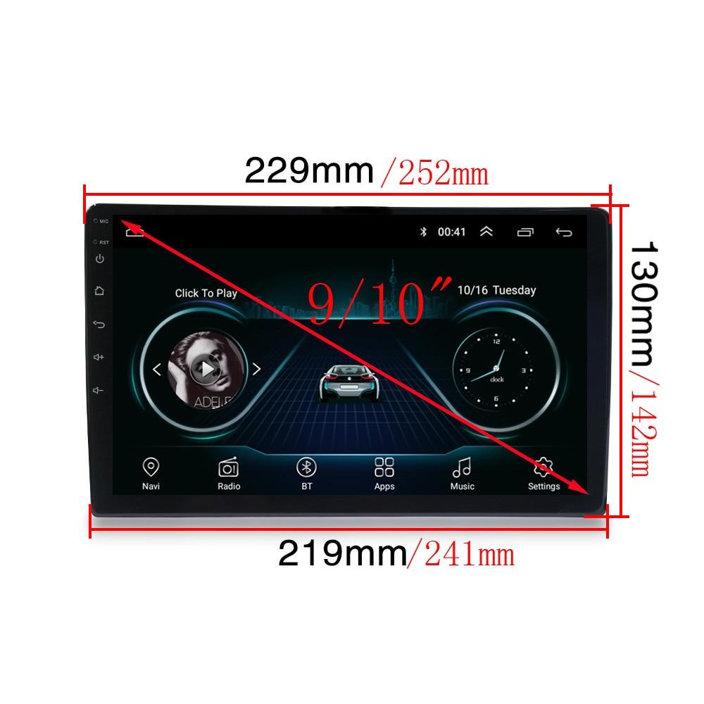 "9 10"" INCH Android 8.1 GPS Navigation Autoradio Multimedia DVD Player Bluetooth WIFI  OBD2 Universal 2Din Car Radio Navigation"