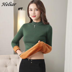 Heliar Long Johns thick Women Thermal Underwear Sweater keep warm Pullovers Velvet Thick Women Winter Warm Underwear Sweater