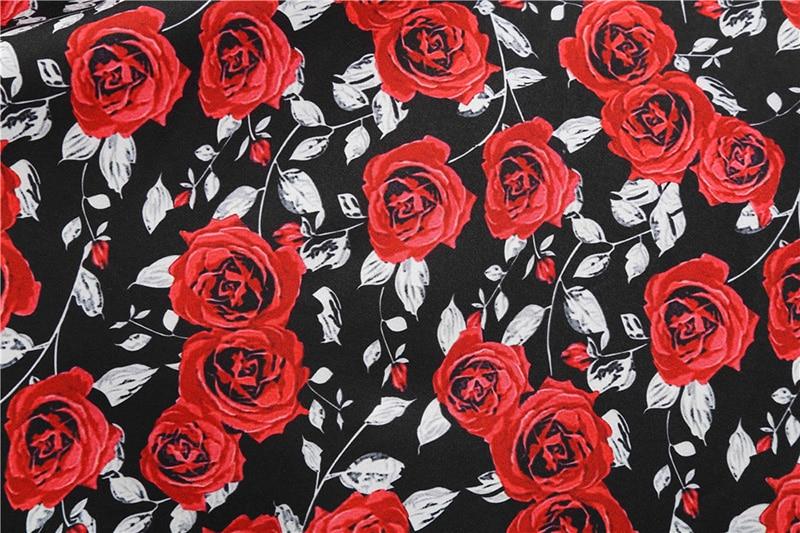 Women Long Sleeve Winter Vintage Dresses Sexy Black Music Note Print V-neck Rockabilly Pin up Party Dress Vestidos Plus size 671