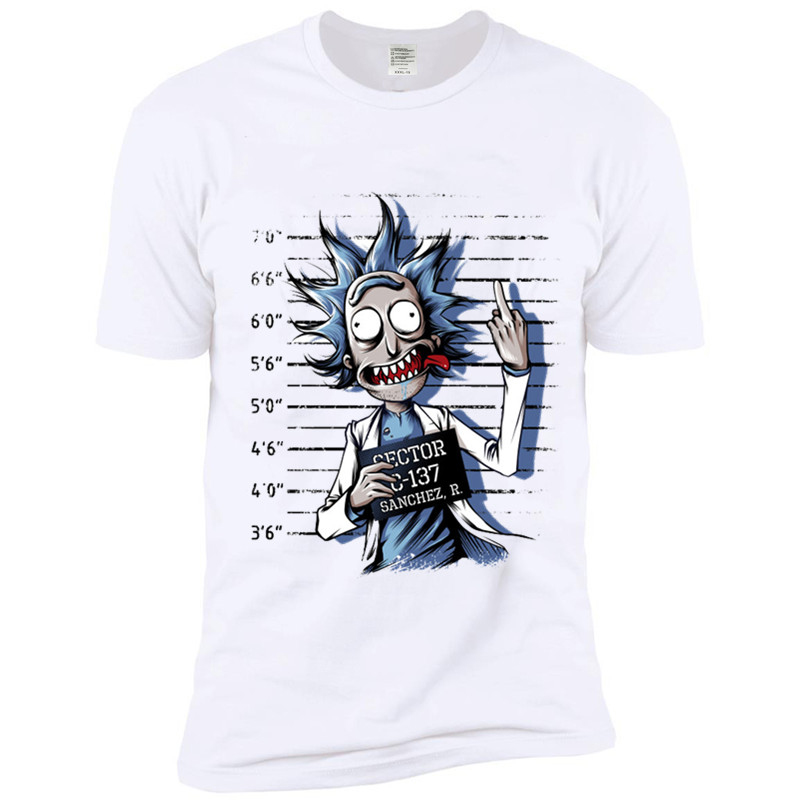 Ready Stock Men's Bad Rick Funny Anime T-shirt Unisex Casual Anime Morty T Shirt Women Hip Hop Swag Tshirt