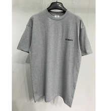 Vetements frente para trás t-shirts das mulheres dos homens vetements voltar colar logotipo tonal bordado vtm t 1:1 tag vtm topos