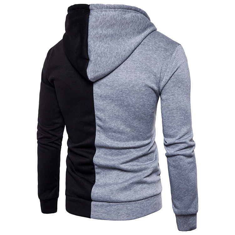 H317547d8bfba468f88d684c5f6a213caa - NaranjaSabor New Men's Hoodie Autumn Men Fleece Hooded Sweatshirts Fashion Stitching Color Male Casual Brand Clothing N625